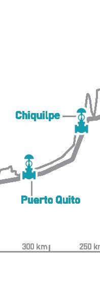 Estaciones Chiquilpe y Puerto Quito